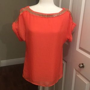 Beautiful Ann Taylor Loft sequenced Blouse